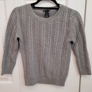 Grey Cable-Knit Chunky Sweater H&M (XS)